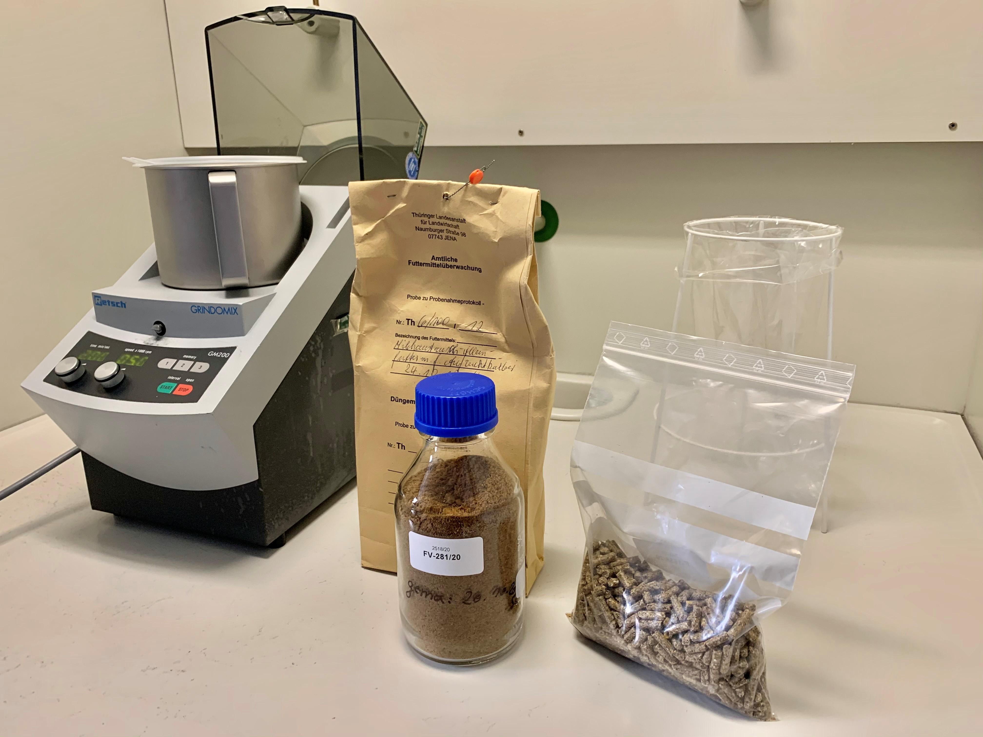 Probenvorbereitung für den Nachweis von Wiederkäuer-DNA in Futtermitteln