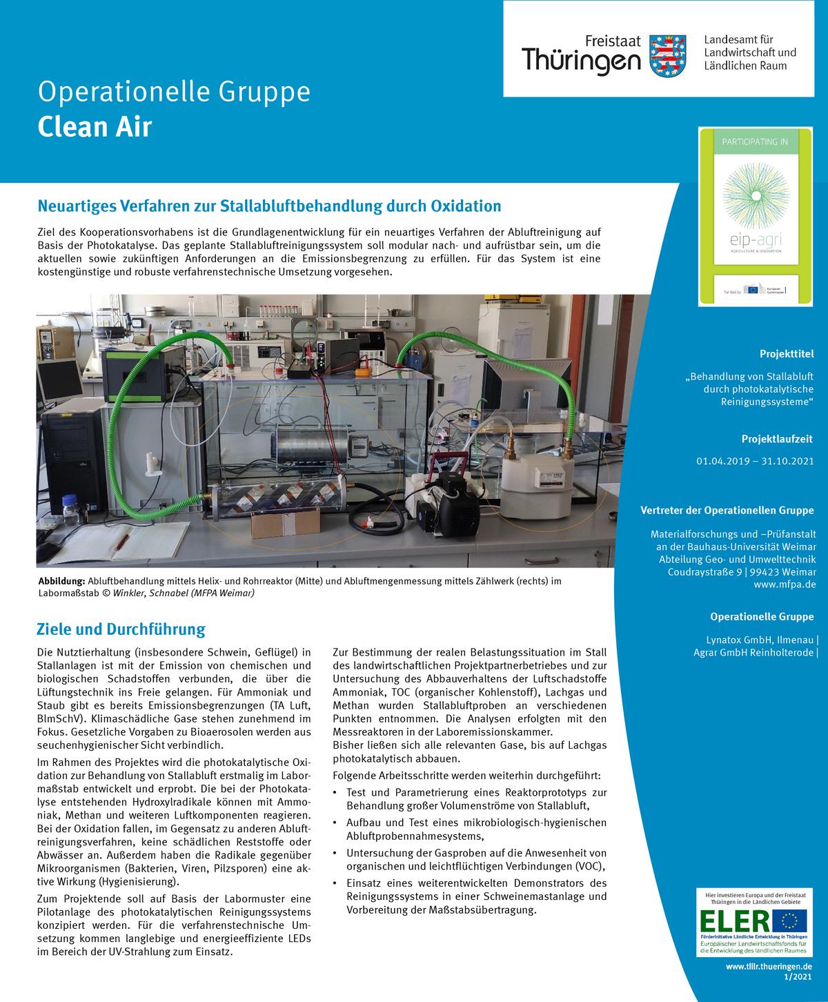 Poster zum LFE-Projekt Clean Air