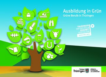 Titel Broschüre zu Grünen Berufen