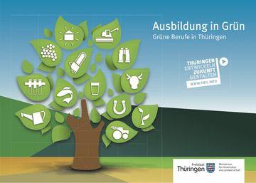 Titelbild Broschüre Grüne Berufe in Thüringen