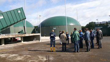 Besichtigung einer Biogasanlage