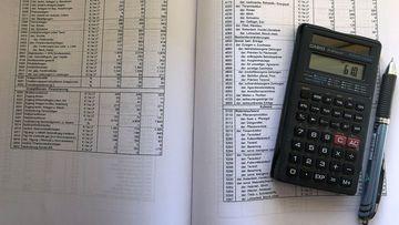 Foto von betriebswirtschaftlichen Kalkulationsunterlagen