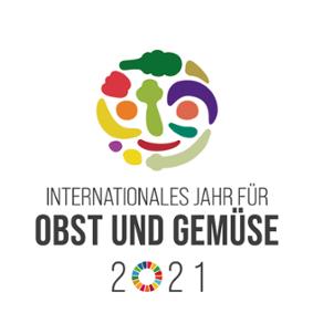 Logo zum Internationalen Jahr für Obst und Gemüse 2021