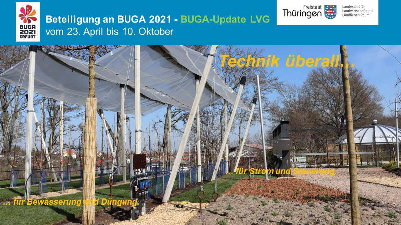 Aufbauarbeiten und Fortschritt auf dem Ausstellungsgeländes des LVG