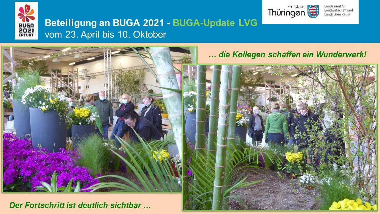Aufbauarbeiten des Ausstellungsgeländes der LVG, Hallenschau