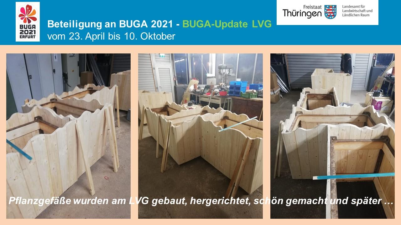 Aufbauarbeiten des Ausstellungsgeländes der LVG
