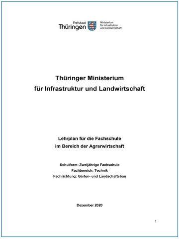 Foto vom Deckblatt neuer Lehrplan für Fachschule