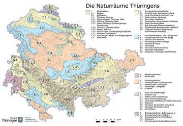 Naturraumkarte