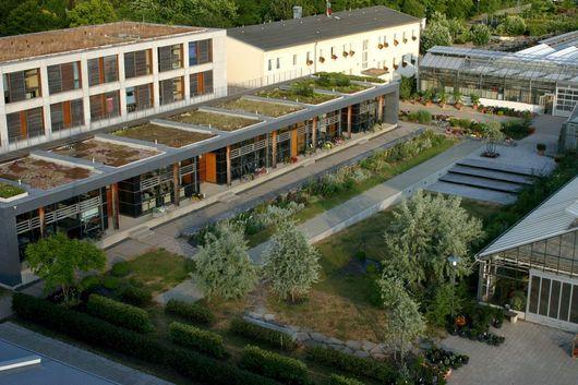 Luftbild des Geländes des LVG Erfurt