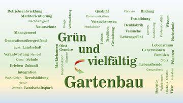 Grafik mit Ausbildungsschwerpunkten im Gartenbau