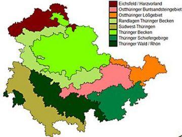 Agrargebiete Thüringens