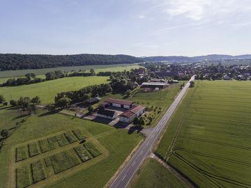 Luftbild Versuchsstation Heßberg
